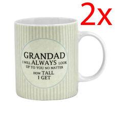 2 X GRANDAD I WILL ALWAYS LOOK UP TO COFFEE TEA MUG KITCHEN GIFT PRESENT CERAMIC