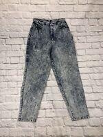 Vintage High Waisted Acid Wash Jeans Vintage Womens Size 12**