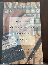 Written Communication Resource Digest Pamela J Gurman  Write Professionally