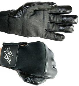 Wheelchair Gloves Leather Ultra Grip Four Seasons Full Fingers