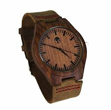 Men's Wood Watch, Natural Bamboo and Sandalwood with Quartz Movement, New Boxed