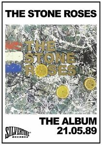 STONE ROSES POSTER PRINT A4 260GSM OR FRAMED OPTION