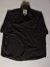MENS BLACK SHIRT by FLINTOFF JACAMO SHORT SLEEVED SIZE XL