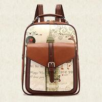 Women's Backpack Travel PU Leather Handbag Rucksack Laptop Shoulder School Bag