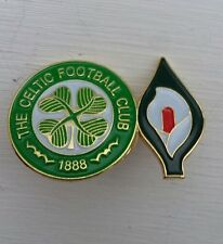 Glasgow Celtic Easter Lily Twin Badge 1916 Rising Irish Republican Ira