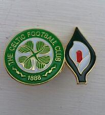 Glasgow Celtic Easter Lily Twin Badge 1916 Rising Irish Republican Ira