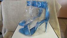 Guess Ladies Medium Blue Satin GW Pollee3 Shoes - Size 8M