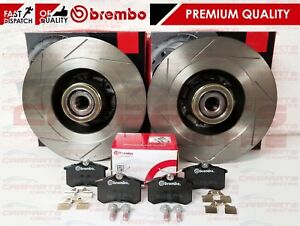 FOR RENAULT MEGANE SPORT RS 250 265 275 REAR PERFORMANCE BRAKE DISCS BREMBO PADS
