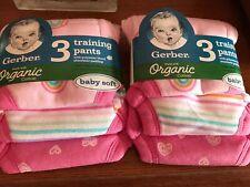 Nip 6 Pair Gerber Toddler Girl's Cotton Training Pants Size 3T