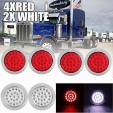 """4"""" 24 LED Stop Turn Tail Backup Reverse Lights For Kenworth Peterbilt Freitliner"""