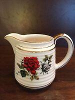 Vintage Sadler Creamer 3634 Rose Floral Made In England Milk Serving