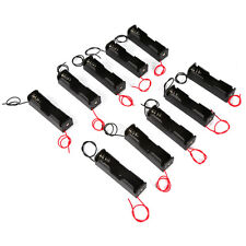 18650 Battery 3.6~4.2V Clip Holder Junction BoxCase Cover Plastic Black 10Pcs