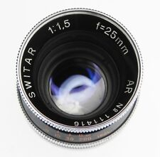 Kern 25mm f1.5 Switar AR C mount  #111416