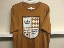 ADIDAS SPORTS LORE VINTAGE  T Shirt sz XL New MADE IN CANADA SAND/BROWN