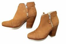 RAG & BONE Margot  nubuck lather Booties sz EU 38 / US 8 camel