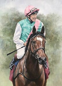 Enable Racing Horse Frankie Dettori Legend Animal Wall Canvas Picture 20x30inch