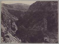 Italia Croazia Montenegro? Paesaggio Dei Montagne Vintage Citrato Ca 1890
