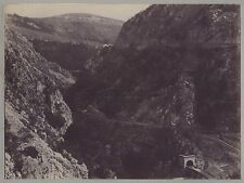 Italie Croatie Montenegro ? Paysage des montagnes Vintage citrate ca 1890