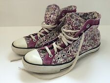 "Converse Chuck Taylor Purple Women's US 11 Custom ""LAURA"" Double Tongue"