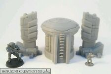 HC3D - Tech Terrain 60mm Silo and 70mm Relay Wargames Scenery 40k Infinity 15mm