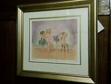 Steve O'Connell Ballerina Limited Edtion Getting Ready Gic'lee Framed Print