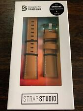 Samsung Studio Leather Wrist Strap for Samsung Gear S3 Classic/Frontier Tan NEW!