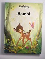 Walt Disney Bambi Hardcover Book Vintage 1986 Gallery Books Twin Books