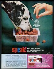 1963 Dalmatian photo Speak dog food vintage print ad