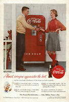 1950s Original Vintage Coca-Cola Vending Machine Golf Fashion Photo Print Ad