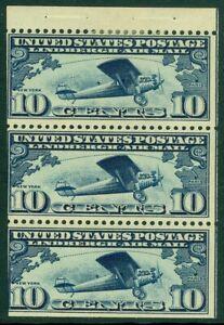 EDW1949SELL : USA 1928 Scott #C10a Booklet pane. Position H. Mint Original Gum