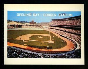 Sport Baseball Stadium chrome postcard Dodger Stadium Los Angeles California CA