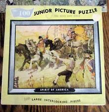 Vintage Built-Rite Junior Picture Puzzle 100 Pc 1955 Complete Spirit of America