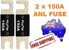 2 x 150AMP ANL Fuse for Dual Battery & Amplifier Wiring Kit Fuse Holders 150 A