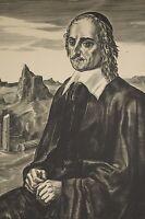Grande Gravure Burin A. DECARIS XX° Portrait de Blaise PASCALPhilosophe, ex n°