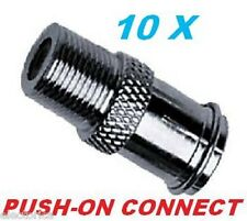 10 X EASY PUSH ON MALE to FEMALE CONNECTOR RG6 RG59 COUPLER COAX CABLE ADAPTER