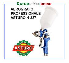 AEROGRAFO ASTURO HVLP H-827 600cc NYLON UGELLO 1.4mm 1,7 mm 2.0mm 2.5mm RICAMBI