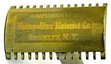 c. 1920 GILLETTE SAFETY RAZOR ad premium Metropolitan Material Co. BROOKLYN  wb
