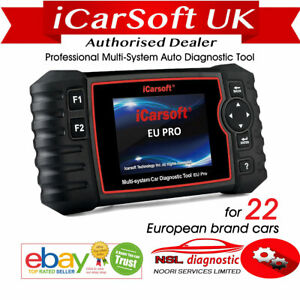iCarsoft EU Pro Diagnostic Tool For ALL22 European Vehicles Multi System ABS,SRS