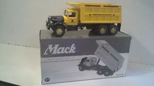 L Mack  Dump Truck First Gear  - 1:34 scale  -  Tiger Paw Excavating Logos  NIB