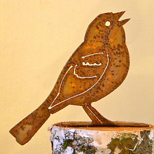 Rusty Metal Vesper Sparrow Bird Silhouette Accent for Inside or Outside