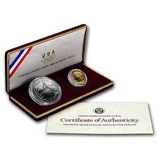 1988 2-Coin Commem Olympic Proof Set (w/Box & COA) - SKU #7126