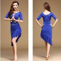 Fashion lady girl latin salsa tango chacha ballroom dance dress dancewear S-XL