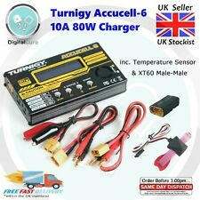 Turnigy Accucell-6 10a 80w Li-Po Life Lihv Batterieladegerät + Temperatur RC