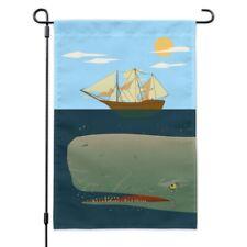 Sperm Whale Under Ship Garden Yard Flag