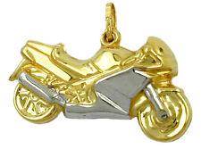 375 ECHT GOLD *** Anhänger Motorrad bicolor