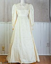Ladies Cream Lace Gown Handmade Full Length Victorian Western Reenactment Small