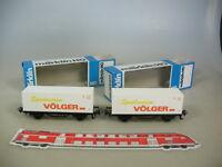 M514-0,5# 2x Märklin/Marklin H0 Containerwagen, Spielwaren Völger, DB, TOP+OVP