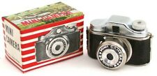 Vintage Original MINIATURE SPY CAMERA in Old Display Box Hong Kong Toy 1950s