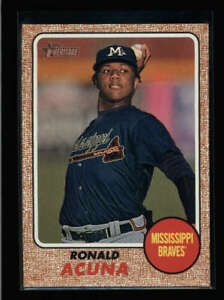 RONALD ACUNA 2017 TOPPS HERITAGE MINOR LEAGUE #202 ROOKIE RC FC9358