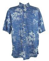 Cooke Street XL Blue Hawaiian Aloha Camp Shirt Made in Hawaii